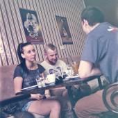 Denisa Seph, Filip Knoll, Michal WhiteAss Kucko, STHOOR Café, Bratislava